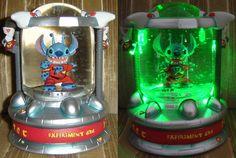 Disney Stitch glow in the dark Snow Globe Lelo And Stitch, Lilo Et Stitch, Disney Home, Disney Art, Disney Crafts, Stitch Disney, Lilo And Stitch Quotes, Disney Snowglobes, Stitch And Angel
