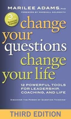 The book, Change Your Questions Change Your Life by Marilee Adams, offers eye-opening insights. Insights of the sort that I was looking for, but missed. With the form of questions, we ask we define our feelings and reactions in any situation. Marilee uses a story to support her findings. Everyone finds a mirror in it and will take from the book hands-on tools to start on an inquisitive journey.