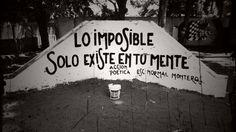 Lo imposible solo existe en tu mente.  // Acción poética