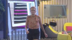 On the warpath: Jayne Connery flew into a rage on Thursday night Big Brother as she leapt to the defence of pal Hughie Maughan after some of her housemates called him two-faced