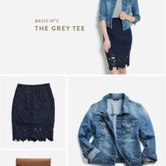 How to Style your Basics Love the outfit, but especially the denim jacket.  I need a new one!