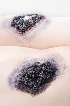 Concept: Imagining luxury fashion techniques applied as a luxurious skin disease or the idea of luxury fashion and cosm...