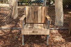Single chair. Aware Industries skilled staff are now making furniture from recycled furniture from recycled timber pallets. Visit our website today for further details and to see other items available www.awareindustries.com.au