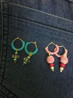 hoop earrings with danglers