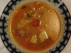 Recept: Srbská čorba   Tradičnírecepty.cz Cheeseburger Chowder, Soup, Red Peppers, Soups