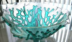 Exquisite White Art Glass Coral Bowl - Beach Home Decor. $438.00, via Etsy.