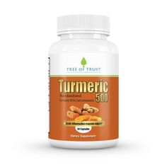 """Important: Use the Coupon Code """"YEZASRKB"""" to receive the special $12.49 price for a limited time. High Quality Turmeric Curcumin Capsules containing Active Compound Curcumin Extract and Root- 500mg - 60 day supply(1 a day) - CO2 Extracted for better Consistency and Efficacy -Standardized to Contain 95% Curcuminoids - Powerful Anti-Inflammatory Support and Anti-Oxidant Benefits -supports Brain, Eye and Joint to name but a few benefits of this marvellous root by Tree Of Trust Nutrition"""