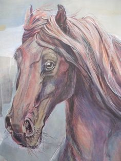 Movement, color, light (Deruta) -by Mara Diaconu. Mixed Media Artists, Horses, Mix Media, Albums, Study, Animals, Picasa, Studio, Animales