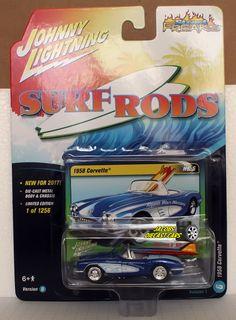 1:64 JOHNNY LIGHTNING STREET FREAKS 2017 Rel 1D - 1958 CORVETTE SURF RODS #JohnnyLightning #Chevrolet