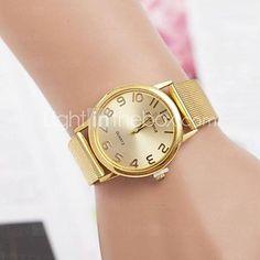 moda femenina rhinestones reloj de pulsera de cuarzo de acero correa número 2016 – €9.79