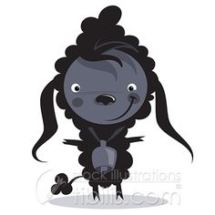 Cartoon Black Sheep With Huge Bell Symbol Of Different And Unique Concept Royalty Free Photos Pictures Images and Stock Photography Black Sheep, Free Illustrations, Pictures Images, Different, Royalty Free Photos, Vector Art, Disney Characters, Fictional Characters, Clip Art