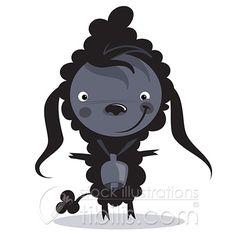 A really bad black sheep :) Royalty Free Illustration at http://tibilis.com/stock