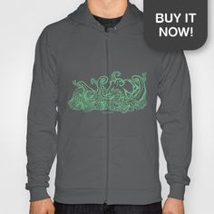 Get your very own Stormy Sea Studio Octopus design on a hoodie!  As part of my #LoveTheSea series, 10% of the profits will be donated to the Suncoast Surfrider Foundation.  http://society6.com/StormySeaStudio/LoveTheSea--Octopus_Print