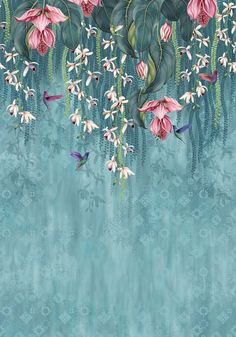 Osborne And Little Trailing Orchid Wallpaper Osborne And Little Wallpaper, Teal Wallpaper, Wallpaper Direct, Photo Wallpaper, Chinoiserie Wallpaper, Luxury Wallpaper, Pink And Turquoise Wallpaper, Wallpaper Designs For Walls, Artistic Wallpaper