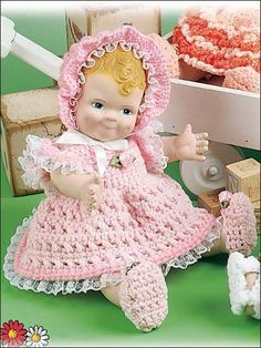 Debby FREE PATTERN FOR 18 INCH DOLL OR PREEMIE BABY