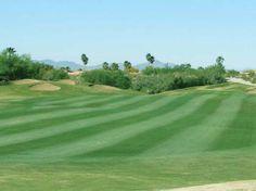 Freshly mowed greens at The Views Golf Club, Oro Valley, AZ