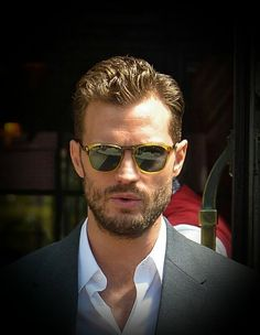 Jamie Dornan in a very cool set of shades Jamie Dornan, Mr Grey, Christian Grey, Anastasia Grey, Fifty Shades Trilogy, Portraits, Fifty Shades Of Grey, Good Looking Men, Gorgeous Men