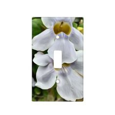 Light Switch Cover White Orchids - light gifts template style unique special diy