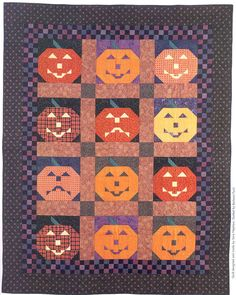 Jack-O-Lantern Quilt by Roberta Maynard.  Pattern from Our Best Seasonal Quilts by Fons & Porter