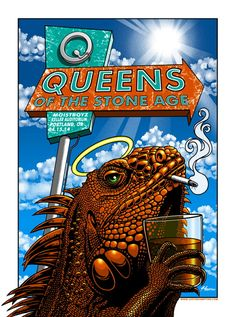 Justin Hampton's New Queens of the Stone Age Poster  (Onsale Info)