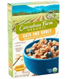 Bite-size clusters of organic oats stay crunchy in milk, even at the bottom of the cereal bowl. Unlike some overly sweet competitors, this pick has a honey-vanilla flavor balanced by sea salt.