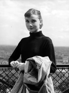 Audrey Hepburn photographed during the filming of Funny Face in Paris, France, 1956.