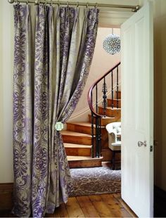 great idea to hide a door or have a pretty entrance