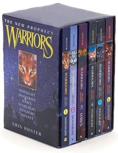 Warrior Cats. It follows the story of a young house cat who runs away from home and discovers a society of warrior cats. He encounters many interesting characters and learns that he is part of a mysterious prophecy.