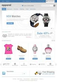 Apparel and Clothes Magento Template is designed for fashion designer, apparel and clothes store. Apparel and Clothes Magento Template is looking great with colors. All sub pages are customized. It is very nice with its clean and professional look.