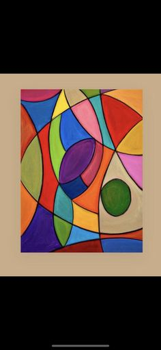 Bright Colors Art, Cubism Art, Modern Art Paintings, Abstract Drawings, Diy Canvas Art, Large Wall Art, Diy Painting, Painting Inspiration, Art Lessons