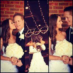 Dad and Daughter wedding photos