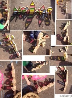 "Using colour blocks to explore shadow in the Early Years - from Rachel ("",)"