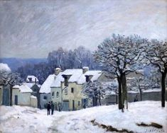 Alfred Sisley, Place Kennel in Marly, snow effect (1876 )
