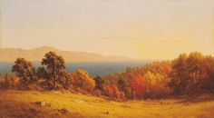 Sanford R. Gifford- LAKE SCENE. Shaping American exhibition at the BYU MOA.