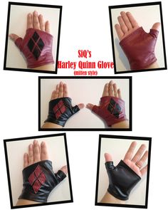 Hey, I found this really awesome Etsy listing at http://www.etsy.com/listing/152466112/harley-quinn-arkham-city-mitten-gloves