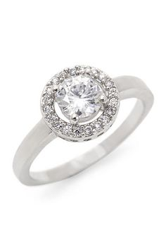 New Directions® Round Pave Boxed Ring
