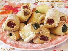 Cornulete cu rahat ~ Culorile din farfurie Doughnut, Gem, Sweets, Desserts, Food, Essen, Tailgate Desserts, Deserts, Gummi Candy