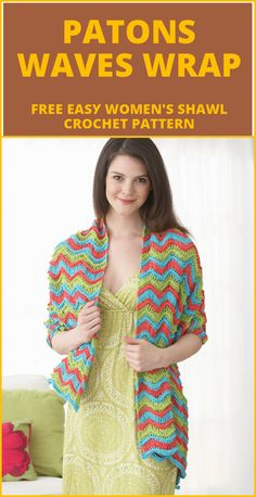 Crochet Patons Waves Wrap - 100 Free Crochet Shawl Patterns - Free Crochet Patterns - Page 6 of 19 - DIY & Crafts