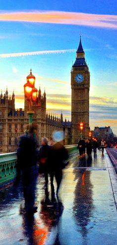 London after a rain shower