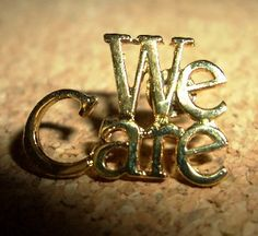 WE CARE Lapel Pin $3.89 each! 14k gold electroplate. Lots more WE CARE styles at www.canadianlapelpins.ca Online Store