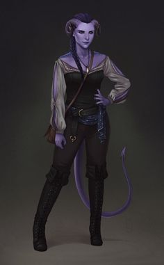 RED art + animation — Levki, a tiefling sorcerer for a patreon. Character Creation, Fantasy Character Design, Character Design Inspiration, Character Concept, Character Art, Character Reference, Concept Art, Dungeons And Dragons Characters, Dnd Characters