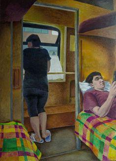 Balto Lyksokov (1962-), On the train, 2017