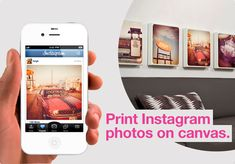 Canvas Pop= great website for printing photos straight onto canvas