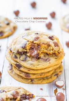 Malted Milk & Whoppers Chocolate Chip Cookies