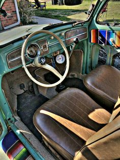 In progress interior of Esmarelda the 61 Type 1 Vw Accessories, Hot Vw, Vw Engine, Vw Cars, Cute Cars, Dashboards, Commercial Vehicle, Vw Beetles, Type 1