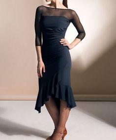 7b522cc12e5 Details about New Ballroom Latin Dance Dress Tango Competition Practice  Black Dress 2Color Y26