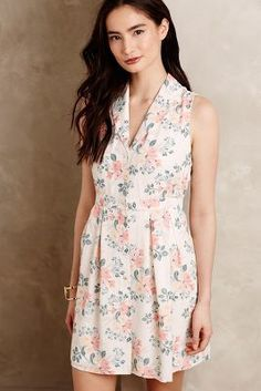 Paper Crown + Rifle Paper Co. Spring Bouquet Petite Dress #anthrofave