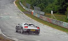 Porsche Carrera GT on a wet Nordschleife by Martijn Kapper, via Flickr