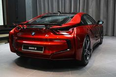 Lava Red BMW i8 from Abu Dhabi