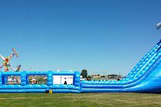 100' Long Blue Crush Xtreme Water Slide
